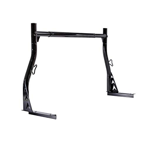 AA-Racks Model X33-A Low-Profile Single-bar Truck Ladder Rack for Pickups Utility Contractor - Matte Black