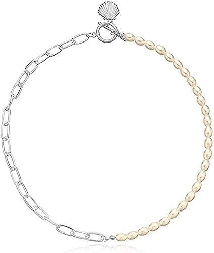 WYDSFWL Collares círculo Collar Concha Colgante Gargantilla para Mujer joyería Regalos Fiesta Moda Moda
