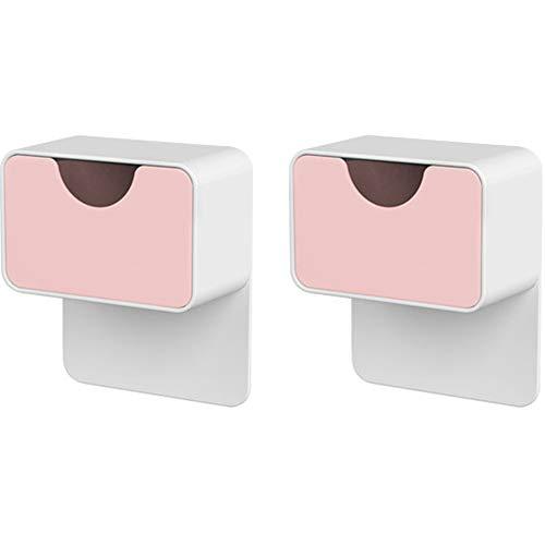 Umora キャビネットホルダー 耐震ストッパー 家具 固定 転倒防止 地震対策 収納ボックス付き 2個セット ライトピンク