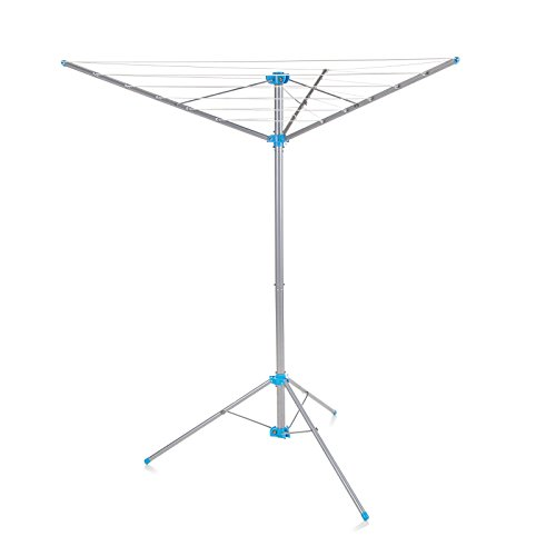 Minky IH87701102 Freestanding Indoor/Outdoor Airer with 15 m Drying Space, Metal, Silver image