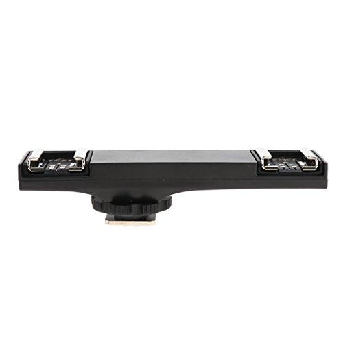 FLAMEER Doppel Blitzschuh Adapter Halterung Splitter Ersatzteile für Kamera, aus PVC + Legierung, ca. 110 x 26 x 22mm