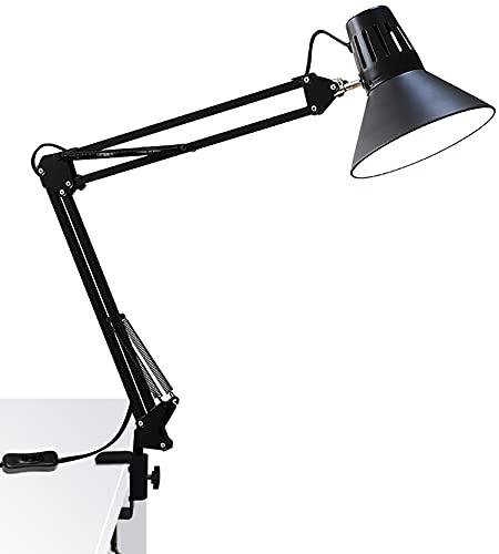 アームライト LED スタンド E26 スイングアームライト クランプ式 LEDデスクライト 目に優しい アームランプ 高輝度 LED 電球 付属
