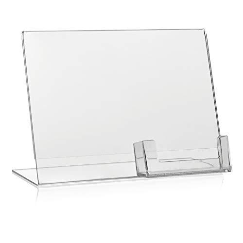 21/x 29,7/cm /Espositore per volantini//T Supporto per//espositore da tavolo//acrilico VITAdisplays/®/ trasparente ne-380 DIN A4/
