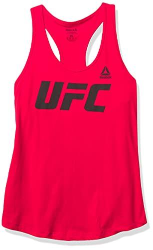 Reebok - Camiseta de Tirantes para Mujer con Espalda Cruzada Tri-Blend Racer Rojo Rojo/Negro XL