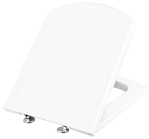 Cornat WC-Sitz ONDO, weiß / Toilettensitz / Toilettendeckel / Klodeckel / WC-Deckel / Absenkautomatik / Duroplast / KSAOND00