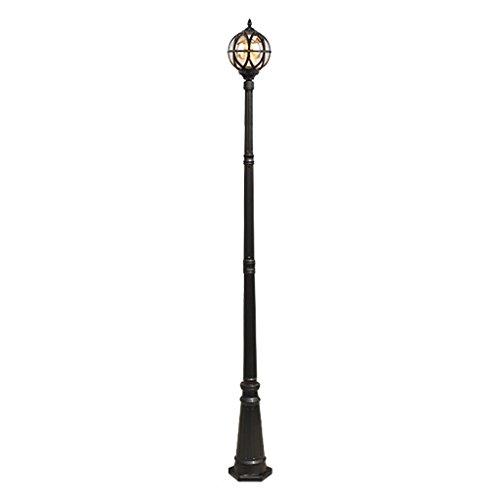 Retro straatverlichting in vrije waterdichte hoge pol tuin tuingang gazon licht 2,65 m hoge zwarte brons padverlichting