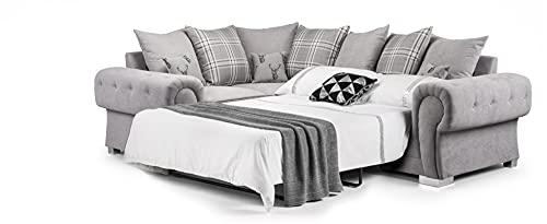 Honeypot - Sofa - Verona - 2C2 Ecksofa - 2C1 Ecksofa - 3-Sitzer Schlafsofa - grau (linke Ecksofabett)