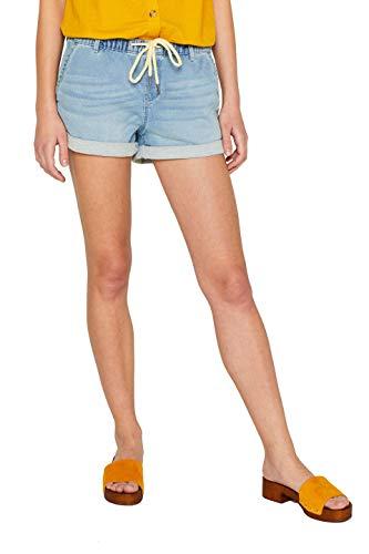 edc by ESPRIT Damen 059Cc1C005 Shorts, Blau (Blue Light Wash 903) W31(Herstellergröße: 31)