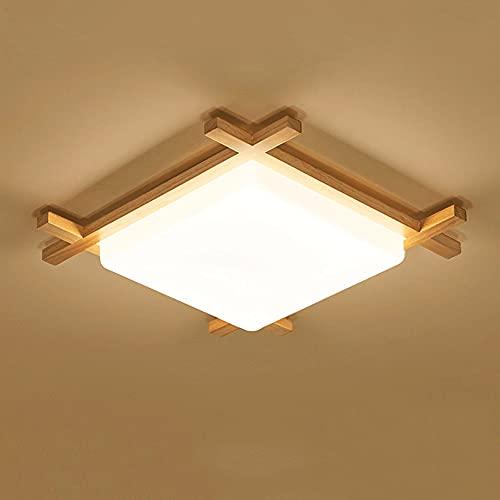 YHBHNB Tatami de Estilo japonés Lámpara de Techo de Dormitorio empotrada LED Lámpara de Pasillo Moderna Simple Lámpara de Sala de Estar de Registro Cuadrado Ajuste de Tres Colores