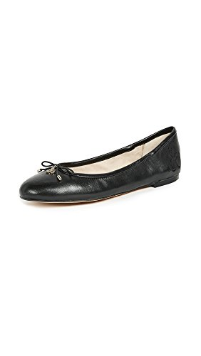 Sam Edelman womens Felicia Classic Ballet Flat, Black Leather, 6 US