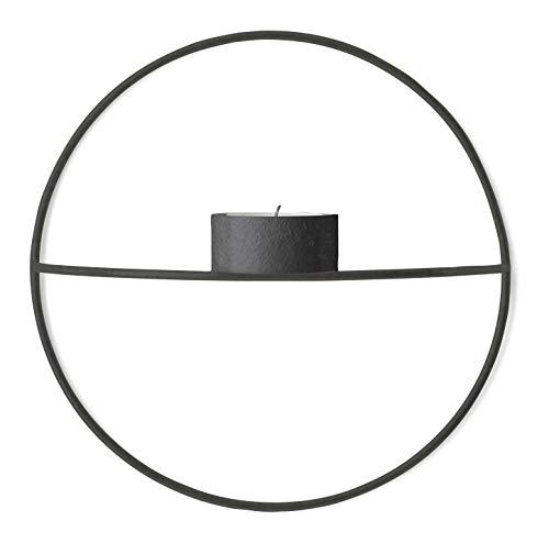 Menu Pov Circle Teelichthalter, S/schwarz