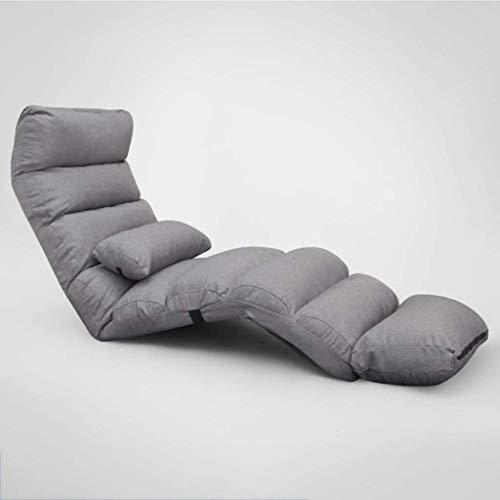 Haushaltsprodukte Möbel Klappboden Stuhl Lounge Schlafsofa Klapp 5 Position verstellbar Lazy Stuhl mit hoher Rückenlehne Bequemer Schwammsitz mit abnehmbarem Pedal (Farbe: C)