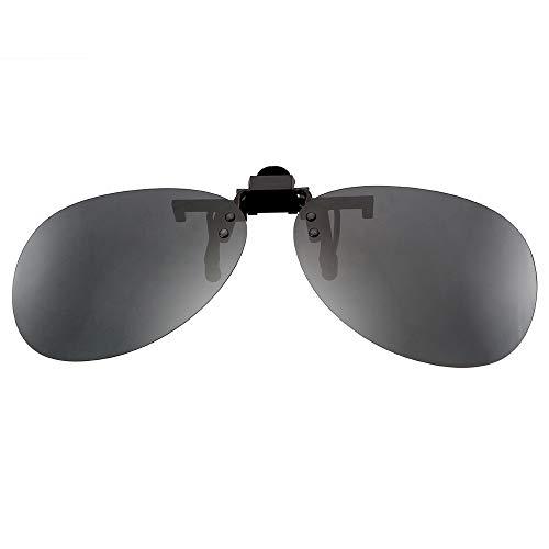 Clip-on zonnebril, gepolariseerde zonnebril, anti-UVA UVB, autorijden, nachtzicht, veiligheidsbril voor mannen en vrouwen zwart