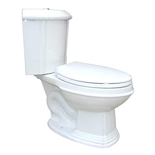 White Porcelain Elongated Space Saving Corner Toilet