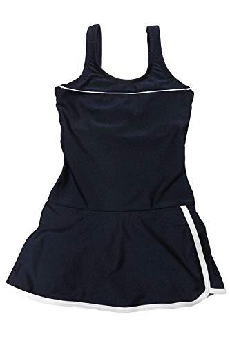 [グロウンチャーム] スクール水着 女子 ワンピース インナー付き UVカット skl3009swlop-w ホワイト 130cm