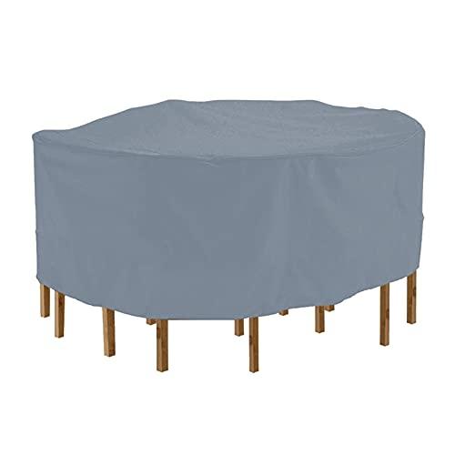 YSJJWDV Funda Muebles Jardin Tapa de Mesa de Muebles Redondos, Impermeable, Tela Oxford 210D, Anti-Polvo para al Aire Libre, NW (Color : Gray 2XL)