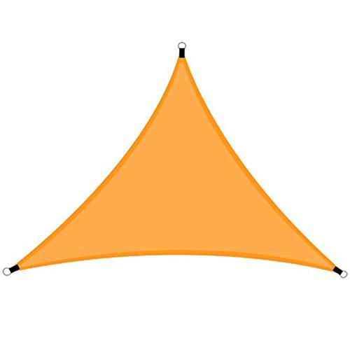 ER-JI Toldo de Toldo Triángulo Shade Tarpaulin 98% UV Protección al Aire Libre Jardín Terraza Partido Padín Paddock Camping Cobertizo Andamio Cuerda Fija,Naranja,4x4m