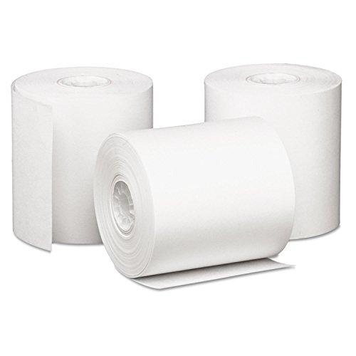 Single-Ply Cash Register/POS Rolls, 3 x 85 ft., White, 50/Carton, Sold as 1 Carton