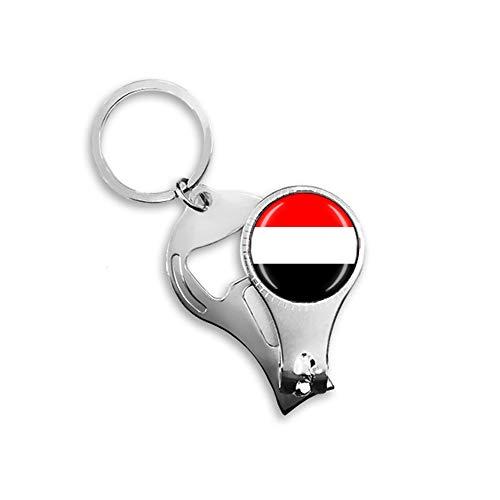 Flaschenöffner mit Jemen-Flagge, Metall, Glas, Kristall, Schlüsselanhänger, Reise-Souvenir, Geschenk, Zubehör