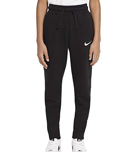 Nike DA0771-010 B NSW FLC SWOOSH PANT Pantaloni sportivi Bambino black/(white) XL