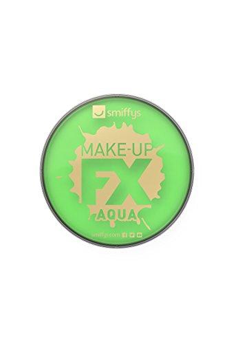Smiffys Unisex Aqua Gesichts- und Körper Make-Up Set, 16ml, Wasserlöslich, Neon Grün, 39137