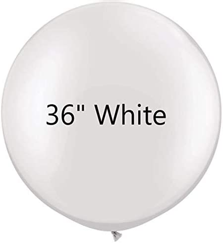 36 inch White Latex Balloons Large Round Balloon for Birthday Wedding Party Decorations 6 pcs product image
