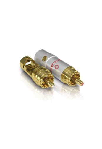 Oehlbach XXL Silicon Evolution High-End-Cinch-Stecker für Kabelquerschnitt bis 11,00 mm gold, 4 Stück
