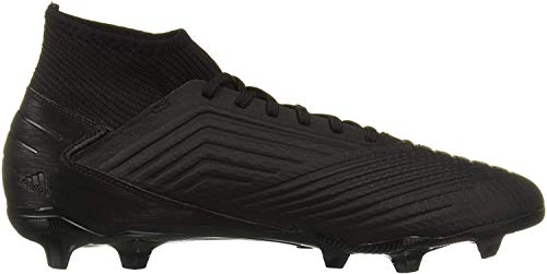 adidas Men's Predator 19.3 Firm Ground Soccer Shoe, Black/Black/Gold Metallic, 10.5 M US
