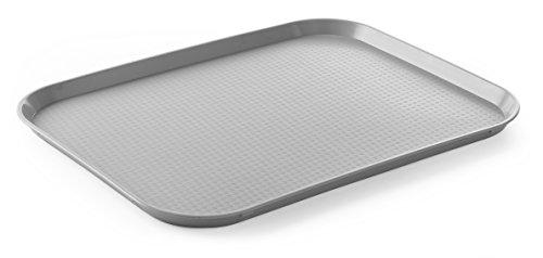 HENDI Bandejas para comida rápida (grande) - Gris claro - 350x450x(H)20 mm