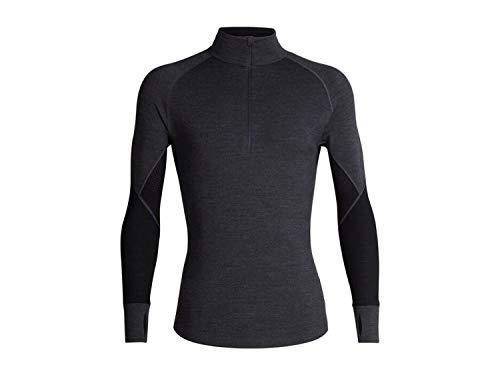 Icebreaker 260 Zone Longsleeve Half Zip Shirt Men - Thermo Merinoshirt mit Reißverschluss-jet dark grey/black-L