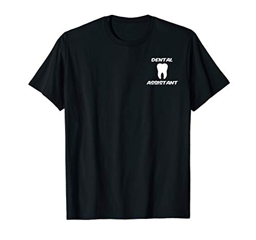 Dental Assistant Tooth Logo Graphic Clipart T-Shirt