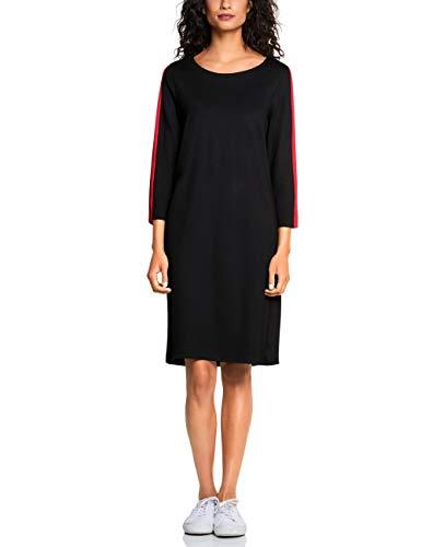 Street One Damen 142545 Kleid, Schwarz (Black 20001), (Herstellergröße:34)