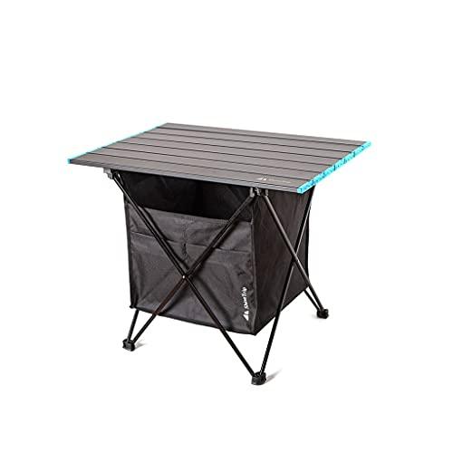 Livronic Mesa Plegable al Aire Libre Silla Camping Aluminio Aleación BBQ Picnic Table Impermeable Durable Mesa Durable Mesa de Mesa para computadora, Copa (Color : M Table and Bag)