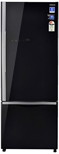 Hitachi 466 L 3 Star ( 2019 ) Rating Frost Free Standard Double Door Refrigerator (R-B500PND6 - GBK, Glass Black, Inverter...