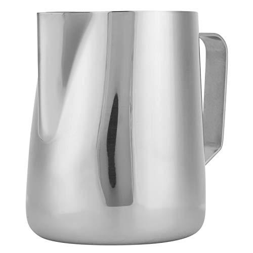 Omabeta Accesorio de Arte Latte sucinto de Acero Inoxidable antioxidante Reutilizable l Taza de Jarra para Hacer Espuma de café para café para Oficina(200ml)