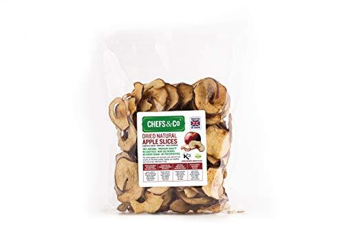 CHEFS & CO Tranches de pommes séchées 250g (non sucrées) | Fruits entiers 100% naturels | Non pelé | Graines enlevées | Qualité Premium | Sans additifs | Non sulfurés | Sans sucre ajouté