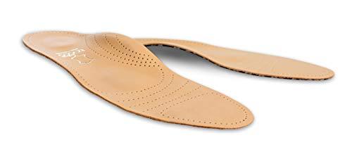 Tacco Deluxe, Plantillas Zapatos Ortopédicos, Plantilla Cuero de Superior con Puente para Pies Planos Dolor Metatarsal, Fascitis Plantar, Todas las Tallas Mujeres y Hombres