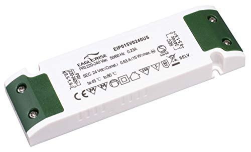 HuaTec Eaglerise Transformador LED 24V 15W Tensión Constante Ultra Fina para Tira LED Alimentador Fuente de Alimentación LED