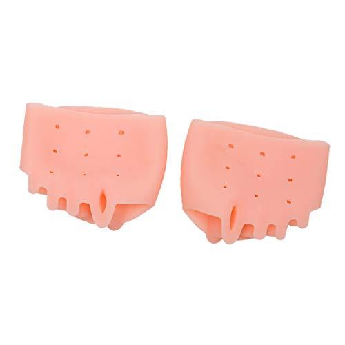 2 x Silikon Zehenspreizer Zehentrenner Reibungsschutz für alle Zehen bei Hallux Valgus - Hautfarbe