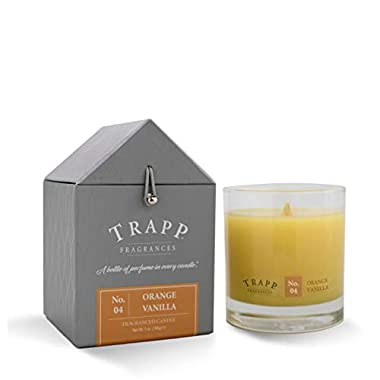 Trapp Signature Home Collection No. 4 Orange/Vanilla Poured Scented Candle, 7-Ounce