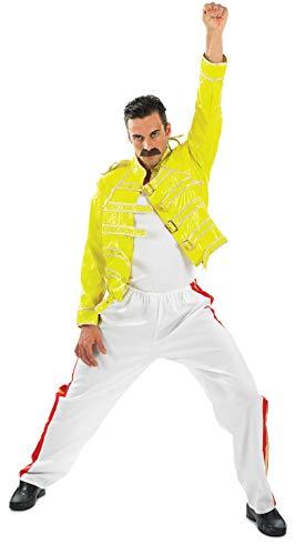 Fun Shack Gelbes 80er Jahre Rock Legenden Kostüm für Herren - XL