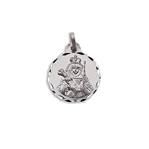 Medalla Religiosa - Medalla Virgen Candelaria 19 mm. Plata de Ley 925 milésimas.