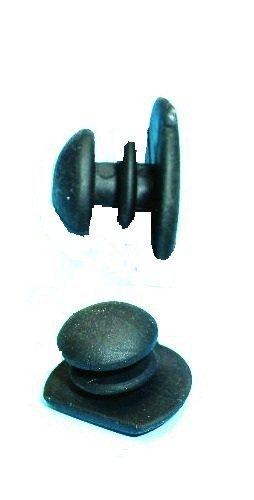 Nierhaus Knieschoner Kunststoff Knopf mit kurzem Hals schwarz