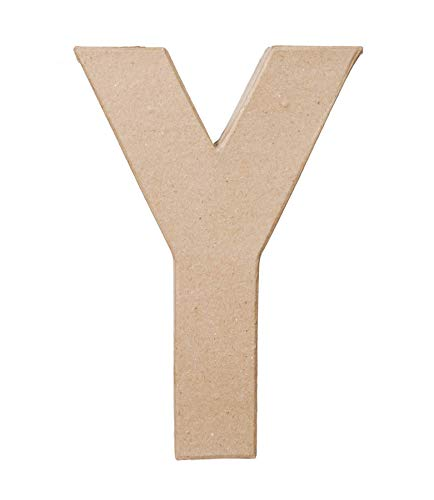 Paper Mache Letter  Y  8 x 55 x 1 inches