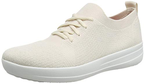 Fitflop Damen F-Sporty Uberknit Low-Top Sneakers, Weiß (Stone), 38 EU