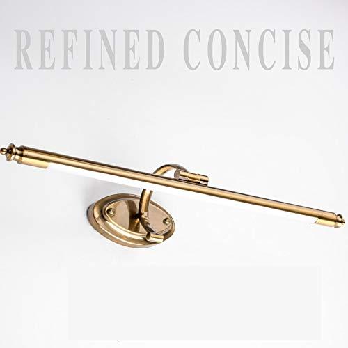 Spiegellamp voor badkamer, waterdicht, brons, retro, cosmetica, spiegel, LED-lamp, badkamerverlichting, goudkleurig