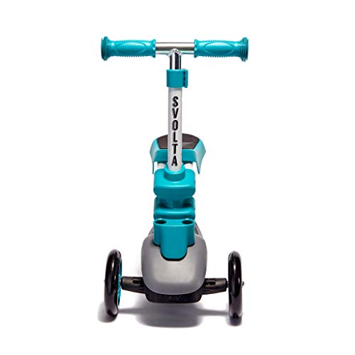 Great Features Of Svolta Ace 2-in-1 Sit and Stand Kids Toddler Scooter Teal