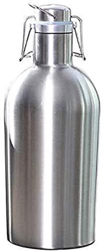 qiuqiu 2L Homebrew Beer Growler Aus Edelstahl Sicherer Schaukeldeckel Wasserbierflaschen Mit Großer Kapazität Für Den Außenbereich