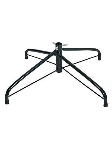 advancethy Christmas Tree Stand, Foldable Artificial Christmas Tree Metal Ornament Holder Universal Model Adjustable (Black)
