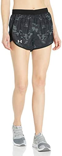 Under Armour Women s Fly By 2 0 Printed Running Shorts Black 004 Reflective X Large product image